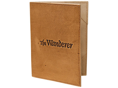 Leather Passport Cover Natural - The Wanderer