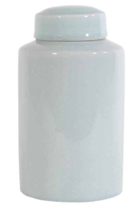 Nova Sage Ceramic Crackle Jar - Medium