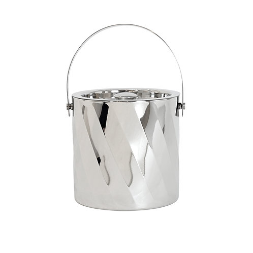 Moore S/S Diagonal Swirl Ice Bucket