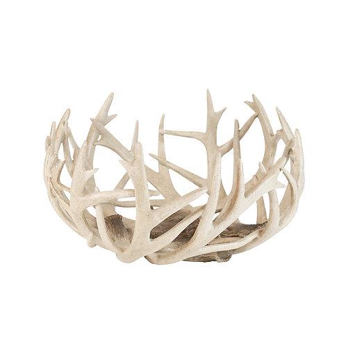 Vale Resin Deer Antler Bowl