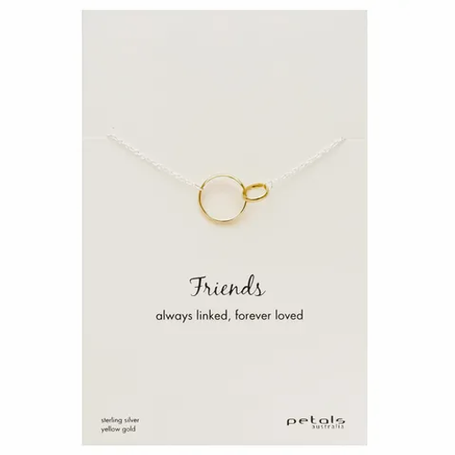 Yellow Gold Friends Necklace