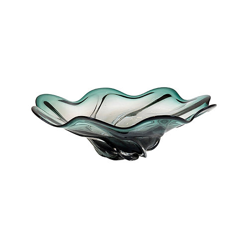 Verity Emerald & Clear Wave Bowl