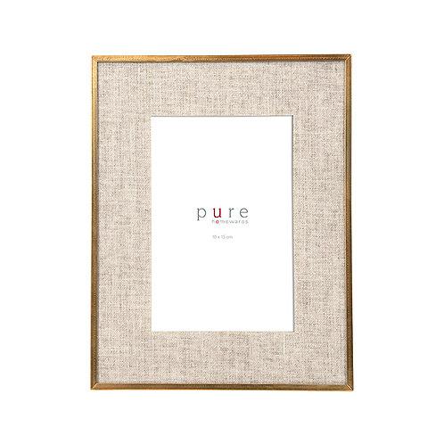 Jordan Gold Edge Linen Frame 15x10 - Small