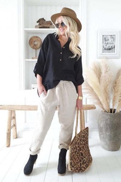 Amor Linen Shirt - Black