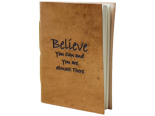 Leather Notebook - Believe