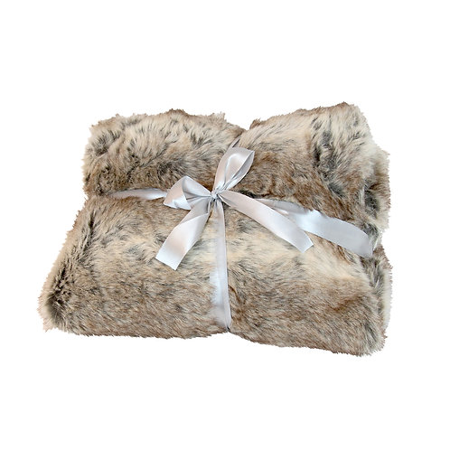 Charlotte Tan Fur Suede Throw