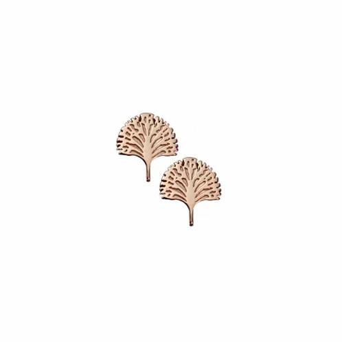 Rose Gold Spirit Tree Stud Earrings