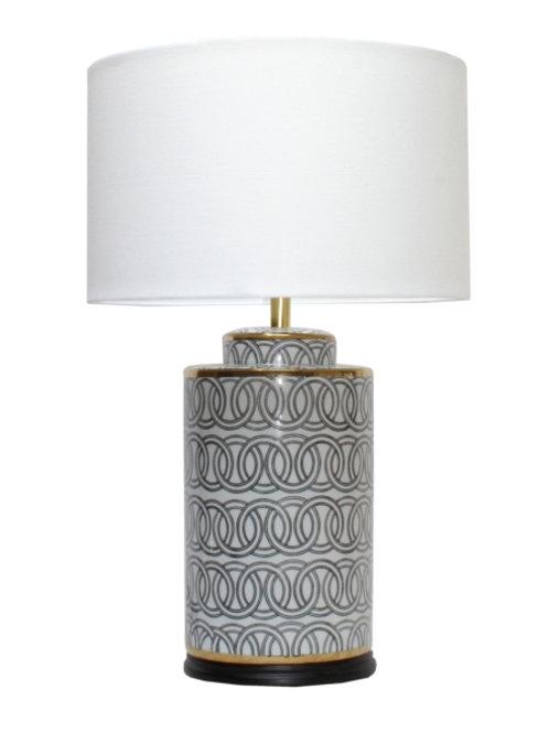 Lampbase - Black & White Cylinder Links