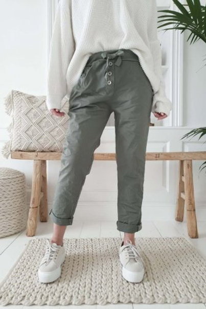 Perfect Joggers Buttons - Green