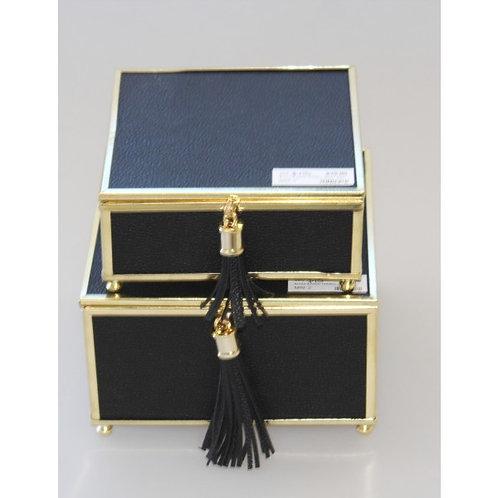 Black & Gold Tassel Jewel Box