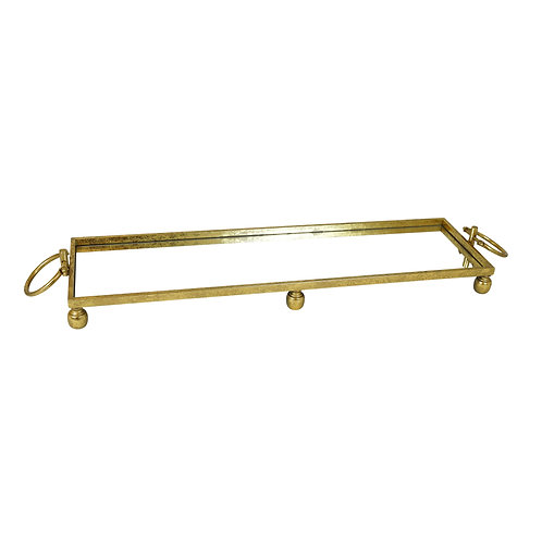 Clay Gold Iron Mirror Tray with Handles