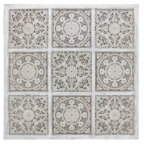 Hodu Wall Art White Wash