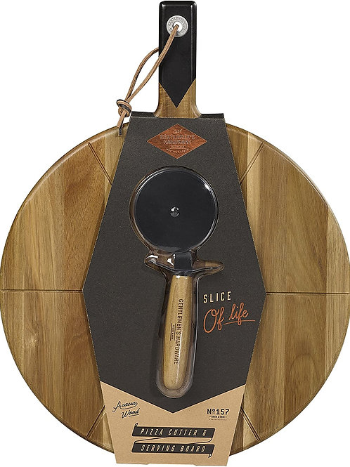 Pizza Cutter and Serving Board