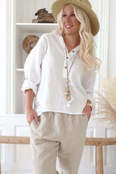 Amor Linen Shirt - White
