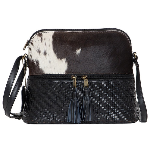 Front Zipper Cowhide Sling Bag – Finland WH