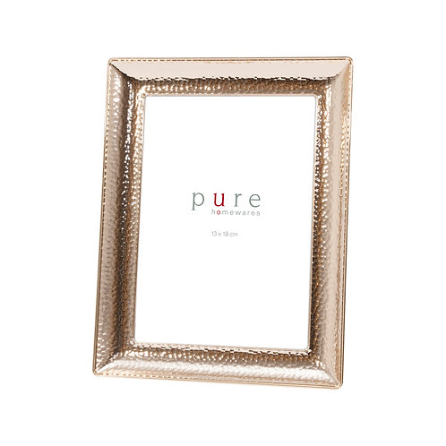 Aura Gold Metal Beaten Frame
