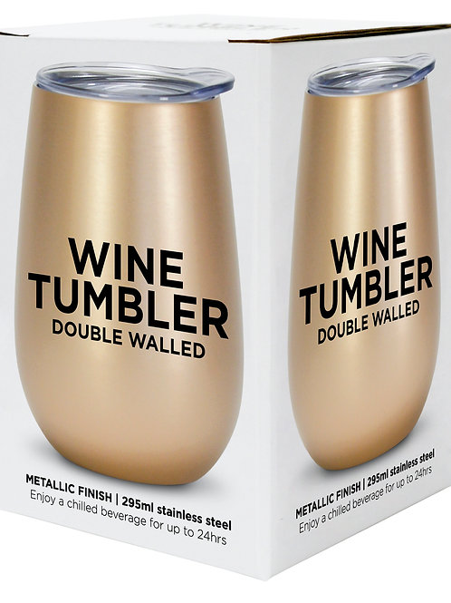 Wine Tumbler Stainless Steel - Gold