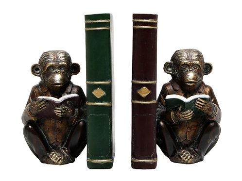 Bookends - Monkey with Book