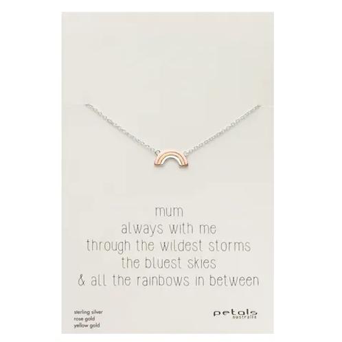 Rainbow - Mum Silver Necklace