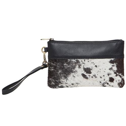 Handy Cowhide Clutch – Wales Black Leather