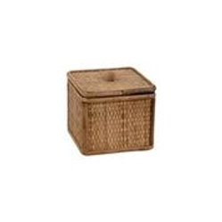 Rattan Lidded Box Square Lg