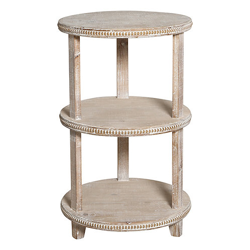 3 Tier Round Timber Table