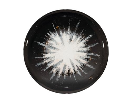Creighton Ceramic B&W Round Plate