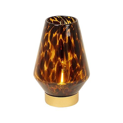 Nari LED Amber and Black Hurricane Lamp - Tall