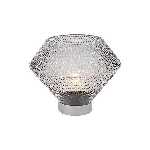 LED Silver Hurricane Lamp - Wide