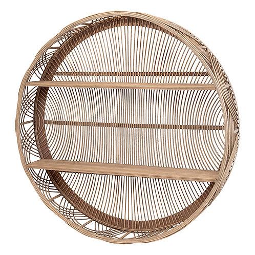 Pinkus Bamboo Ply Round Wall Display Unit