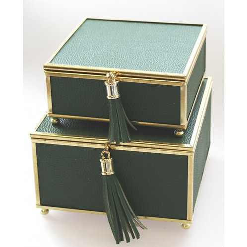 Green Tassel Jewel Box