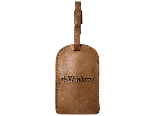 Leather Luggage Tag Natural - The Wanderer
