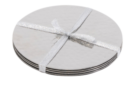 Essex S/S Silver Beaten Coasters