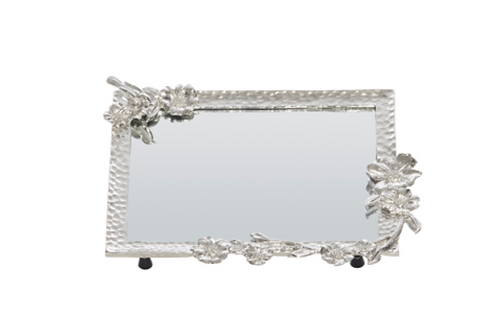 Gilbert Castmetal Silver Bird Rectangular Tray