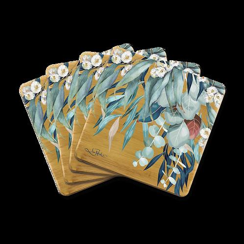 Bamboo Coasters - Native Eucalypt