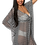 Thumbnail: Plus Size Chiffon Open Front Swimwear Cover-Up Beach Dress Made in the USA