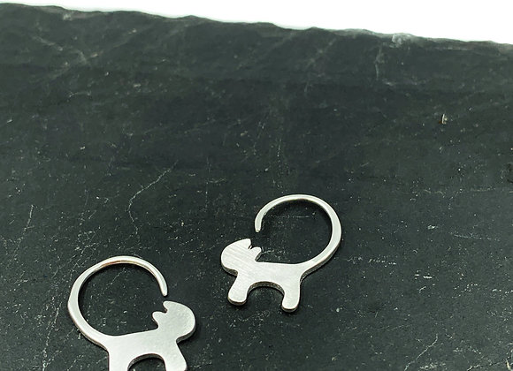 Marietta Sterling Silver Kitty Earrings