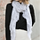Thumbnail: Gray & White Lightweight Elephant Boho Scarf