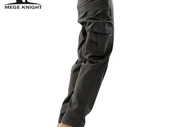 Tactical Shark Skin Water Repellent Thermal Camo Fleece Pants