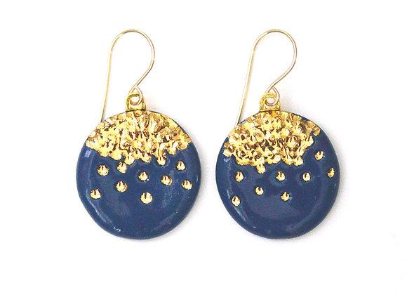 Midnight Kiss Navy Earrings