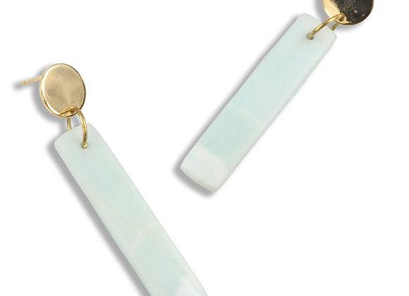 Ashlee 2 Opal Rectangle Earrings