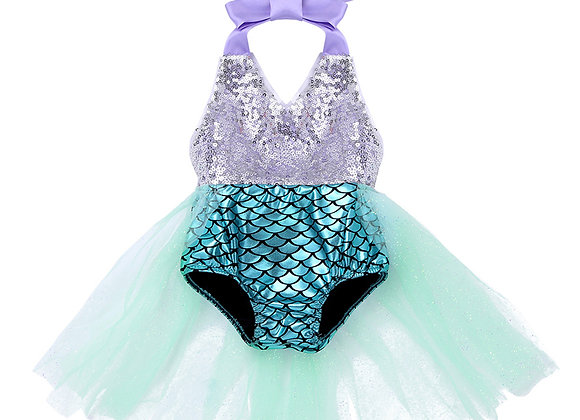 Girls Summer Beach Bodysuit Mermaid