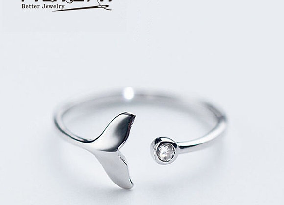 Whale Tail Silver Plated Ring Fashion
