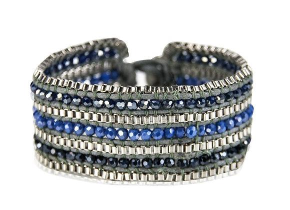 Looped  Bracelet-Sapphire