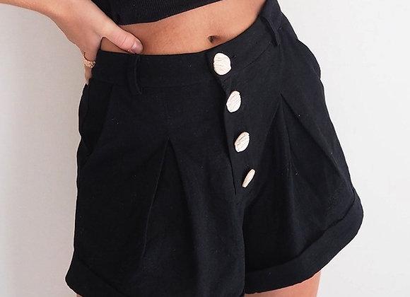 Cotton Shorts High Waist