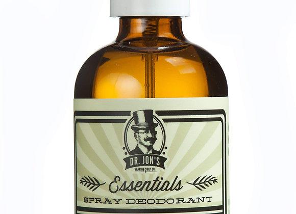 Dr. Jon's Essentials Natural Deodorant Spray (4 Oz.) Organic, Zn and Al Free