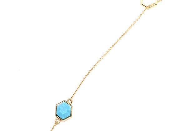 Turquoise-Howlite and Lapis Lazuli Ocean Mix Lariat