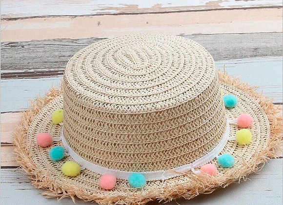 Girls Straw Sun Hat