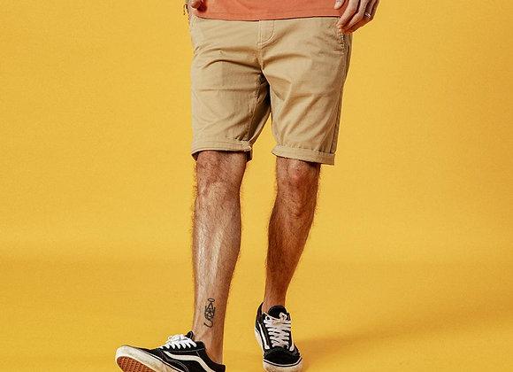 New Solid Shorts Men Cotton Slim Fit