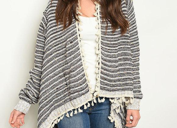 Stripe Ivory Cardigan